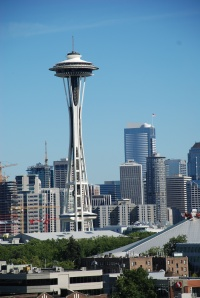 the Space Needle, Seattle Center and downtown