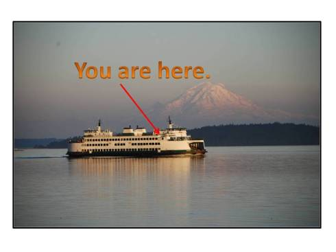 Come to a booksigning aboard a Washington State Ferry!