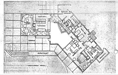 original floor plan ca. 1962