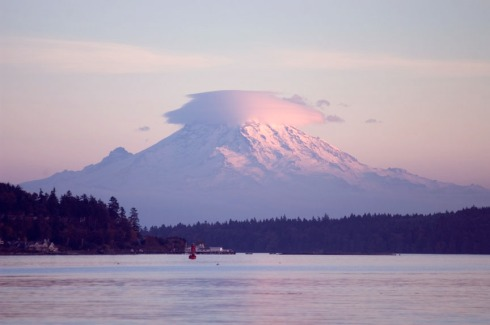 Mt Rainier from my beach