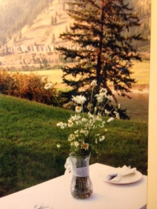 Tables were set up around the hostess's yard. If there is a more gorgeous place than Montana, I've yet to see it.